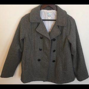 Old Navy Girls Coat Gray Wool Blend